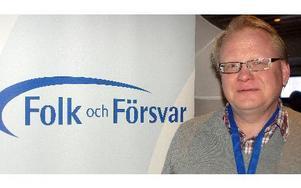 DD träffade Försvarsutskottets ordförande Peter Hultqvist på Folk och Försvars rikskonferens i Sälen. FOTO: ROLF JOHANSSON