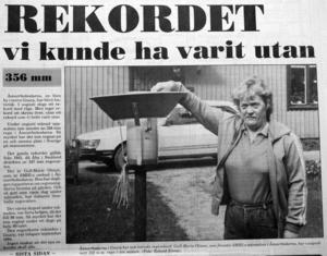 Ht:s förstasida den 1 september 1986.