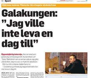 VLT:s pappersupplaga, tisdagen 15 december 2015.