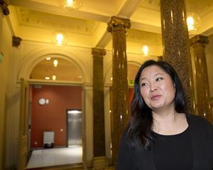 """På nytt uppdrag. Jessica Polfjärd, ny gruppledare för Moderaterna i riksdagen, träffade VLT mellan mötena i Rosenbad. """"Uppdraget som politiker är till låns, det får man inte glömma."""""""
