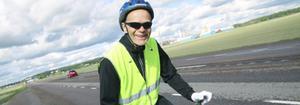 Vill kunna fortsätta cykla. Bengt Pettersson välkomnar inte 2+1-väg med mitträcke.