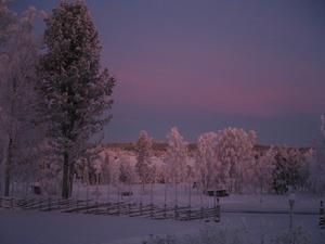 Hökbäck Lit. Utsikt över Indalsälven en kall januaridag.
