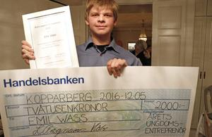 Årets ungdomsentreprenör: Emil Wass.
