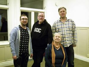 Ensemblen i Björnen: Ingrid Eldeklint, Fredrik Sundberg, Mikael Björklund, Iso Porovic