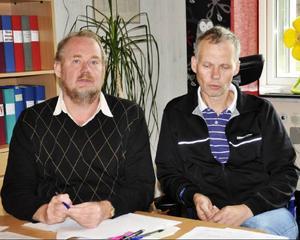 Biträdande rektor Per-Olof Nilsson och rektor Anders Bergman är riktigt nöjda med de framsteg som skett på integrationsfronten i skolan.
