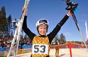 Sofia Johansson från Oslo, vann damklassen, för första gången sedan barn åkte hon på telemarksskidor. Foto: Berit Djuse/DT
