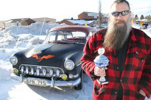 – Jag har haft den i fem år, och plockat ihop den av två bilar. Den här var egentligen bara ett skal, berättade Europa-pokalvinnaren Örjan Rask, från Hassela.