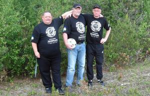 Fotbollsnostalgikerna Agne Karlsson, Ingvar Haraldsson och Roland Kristofersson delar med sig av sina kunskaper om fotboll genom tiderna i Härjedalen.