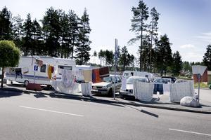 Bilden är från Valbo köpcentrum 2009.