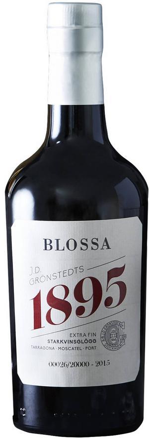 Blossa 1895, 50 cl/129 kr, är en exklusiv, mycket god och traditionellt kryddad glögg som skapats med hjälp av ett 100-årigt recept med tre olika starkviner som bas.