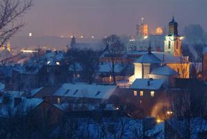 Vintern för Vilnius gamla stad till sagorna. Foto: Lithuanian State Tourism Department