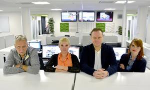 Mittmedias nattwebbare Jan-Arne Bäckström, Sofia Forell, Kenneth Fahlberg och Julia Andersson.