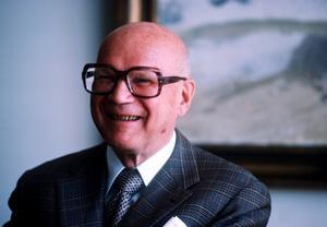"""""""Tvångssvenskans"""" fader. President Urho Kekkonen införde i början på 1970-talet obligatorisk svenska i den finska grundskolan. Foto: Scanpix/TT"""