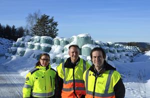 Nu ska de gamla hushållssoporna bort lovar Sundsvall Energi: Charlotte Vikström Karvonen, miljöcontroller, Hans-Erik Olsson, kvalitetsstrateg, och Rikard Fürst, enhetschef för återvinningen.
