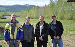 Det vinnande laget: Fredrik Hellberg, Tom Olsson, Fredrik Olsson och Per Hellberg.