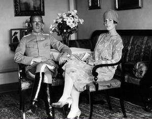 Folke Bernadotte och hustrun Estelle 1928.