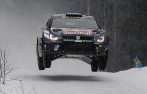 Sébastien Ogier, vinnare av Svenska rallyt.   Micke Fransson/TT