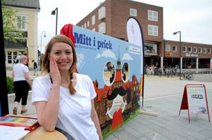Hannele Lanner Johansson stod vid Östersunds kommuns del av spelplanen. Här fanns möjlighet att påverka stadens utseende.