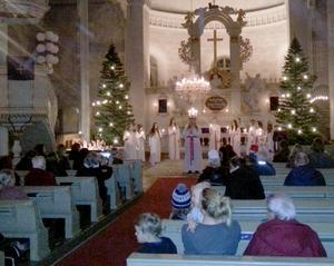 Luciahögtid i Ore kyrka.