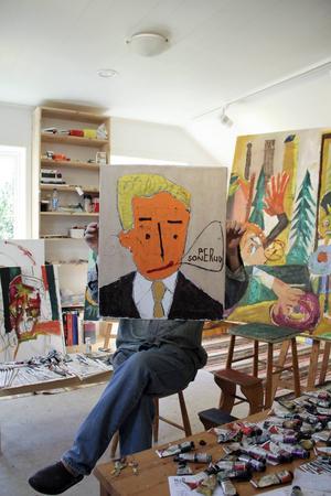 Om Per Sonerud fortsätter måla kan han bli hur stor som helst, utanför landets gränser, enligt galleristen Arne Ekstrand, som ordnar Soneruds första utställning i Skåne i oktober.