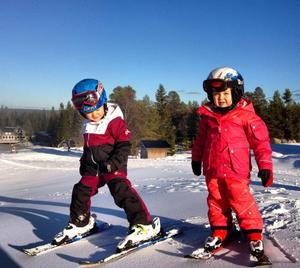 Snösugna kan åka pulka i Sälen i helgen, skidsugna kan hoppas på öppnade liftar kommande helg. De här barnen åkte längst ner i backen, redan förra helgen.
