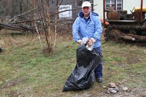 Pelle Olsson är med i de flesta föreningarna i Gnarp, och tycker städdagen är ett bra initiativ.