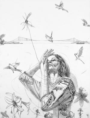 """Verket """"Evigheten"""" föreställer Linn Fernström själv. Den skildrar hur förgängligt livet är i förhållande till evigheten."""