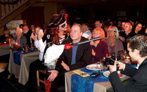 Piraten Katarina Sakrisson gav sig ut bland publiken där hon fick närkontakt med Alfonso Åberg.