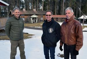 Anders Westerlund, ordföande i Skinnaspelet, Göran Johansson svara för regi och Morgan Haga har hand om folkdansarna.