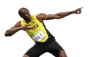 Usain Bolt tog sin andra medalj i OS i Rio 2016 när han med tiden 19,78 segrade på 200 meter.