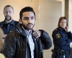 Daniel Riazat innan åtalet lades ned i Södertörns tingsrätt.