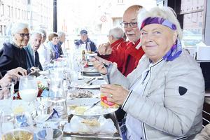 Simonetta Olsson från Mörsil var hungrig på surströmming.