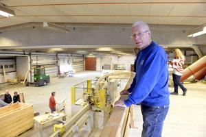 Jarle Mosshäll i 3-visjons fabrik i norska Drevsjö som producerar hus för främst den norska marknaden.