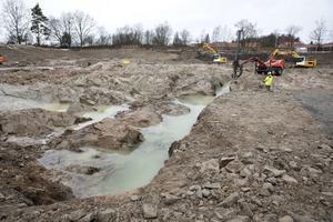 Sprängnings-, mark- och byggnadsarbete kommer att påbörjas om en och en halv vecka, enligt platschefen på NCC Lars Gustafsson.
