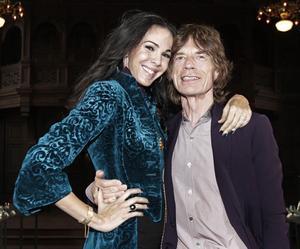 L'Wren Scott och Mick Jagger.