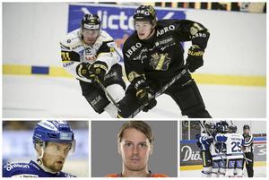 Malte Strömwall i topp följt av Viktor Amnér, Erik Thorell och Marcus Nilsson någonstans i BIK Karlskogas firarhög.