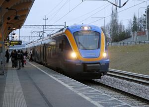 Norrtåg avgår från Kramfors resecentrum.