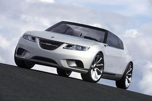 Saab 9-X Air. En konceptbil som väckte mycket uppmärksamhet.
