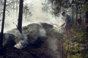 Skosbränderna i Segersta täcker två oländiga områden.