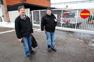 Per-Åke och Rolf Sundin har jobbat 28 respektive 30 år vid Hiab och de hade på känn att beskedet skulle komma.