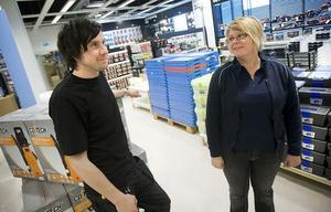 Calle Winter och Lena Rosendal ser fram emot butiksinvigningen.