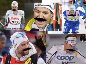 Simon Andersson, Martin Johansson, Teodor Peterson, Rikard Grip och Emil Jönsson har alla sparat ut för att visa stöd för kampen mot prostatacancer.