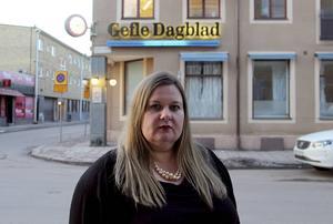 Anna Gullberg, chefredaktör och ansvarig utgivare på Gefle Dagblad.