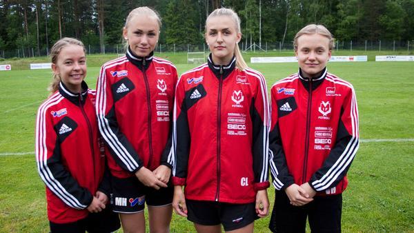 Clara Falck, Moa Hjalmarsson, Cassandra Lövqvist och Vilma Hedfors.