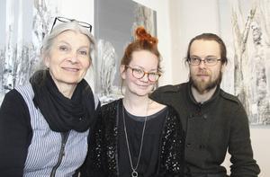 Meg Ersbacken Engman, Anna Linnea Liljeholm, Pontus Ersbacken. Tre av tretton konstnärer under årets konstrunda i Avesta.