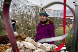 Cilla Andrén sålde bröd.