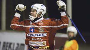 Robin Rebermark gjorde Västanfors fjärde mål.