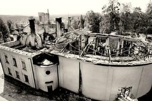 Så här såg Cassels ut kort efter den ödesdigra branden valborgsmässonatten 1992.