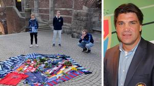 Vid terasstrapporna i området Kärnan, Helsingborg, dog en 43-årig Djurgårdssupporter innan matchen mellan Helsingborg och Djurgården. Bo Andersson från Rö, Djurgårdens sportchef, kände mannen personligen.