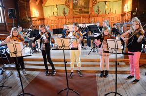 Pampig avslutning. Eleverna i Ljusnarsbergs musikskola levererade ett brett program i konserten i kyrkan som också satte punkt för terminens verksamhet.